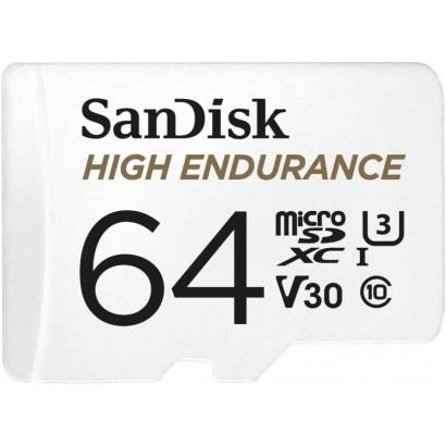 Card de memorie SanDisk micro SD High Endurance Video 64 GB