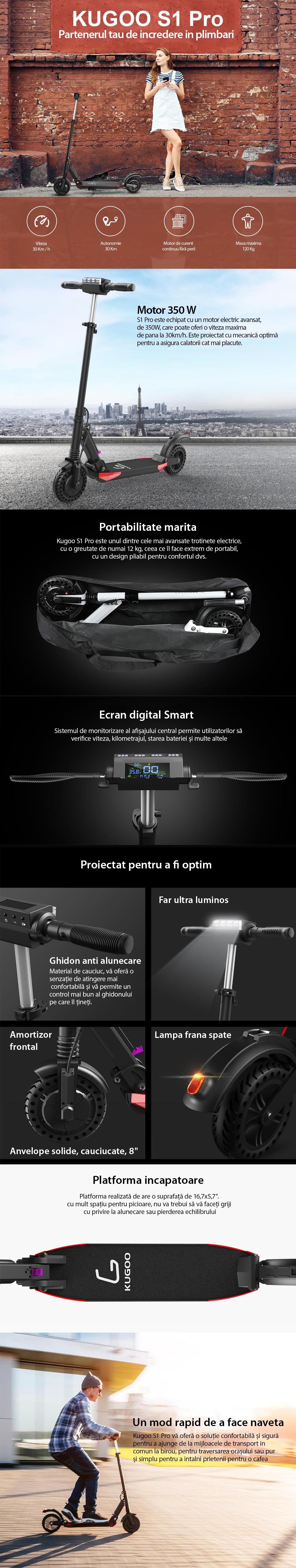 Trotineta electrica Kugoo S1 Pro