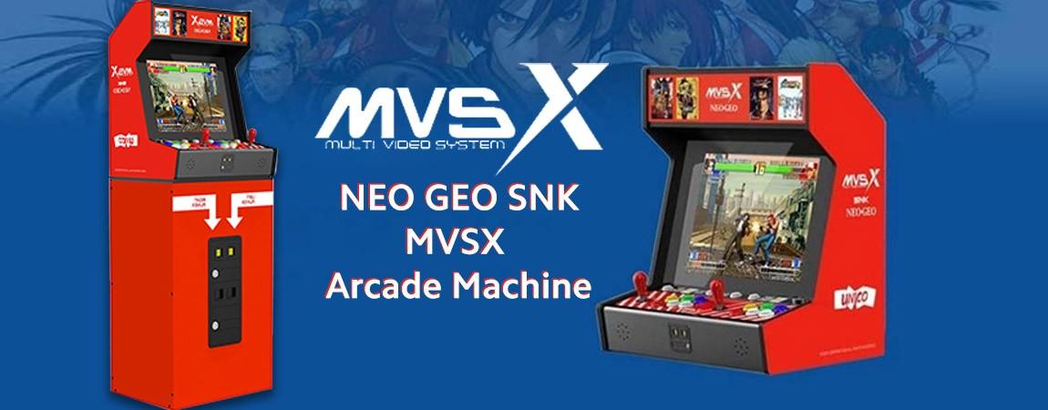 banner Consola retro de jocuri NEO GEO SNK MVSX